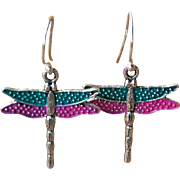 Chimayo Hand Patinaed Dragon Fly Earrings