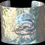 Handmade .999 Fine Silver  Armadillo Cuff Bangle