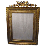 Antique French Dore Bronze Picture Photo Frame, Best Quality, Great Casting