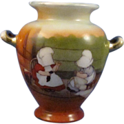 Royal Bayreuth Sunbonnet Babies, Girls, Double Handle Vase