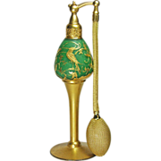 DeVilbiss 1927 Green Kingfisher Perfume Atomizer
