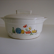 Knowles Utility Ware Covered Casserole