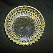 Indiana Glass Crystal Diamond Point Cereal Bowl