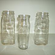 Vintage Sauce Jars ~ Scallop Design ~ 1960's