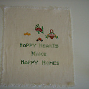 Vintage Cross Stitch & Embroidery Sampler