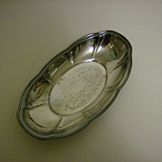 F.B. Rogers Silver Co.~ Silverplate Oval Bread Tray