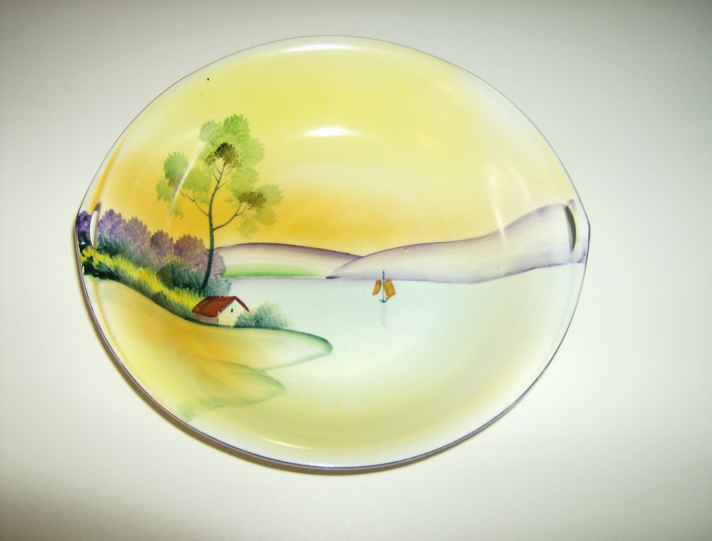 Meito China ~ Hand Painted ~ Handled Bowl