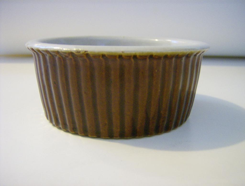 Vintage Brown Stoneware Ramekin
