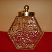 Old Avon Candle Jar with Screw on Cover