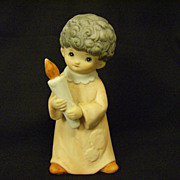 Homco ~ Home Interior ~  Child holding Candle ~ Nativity