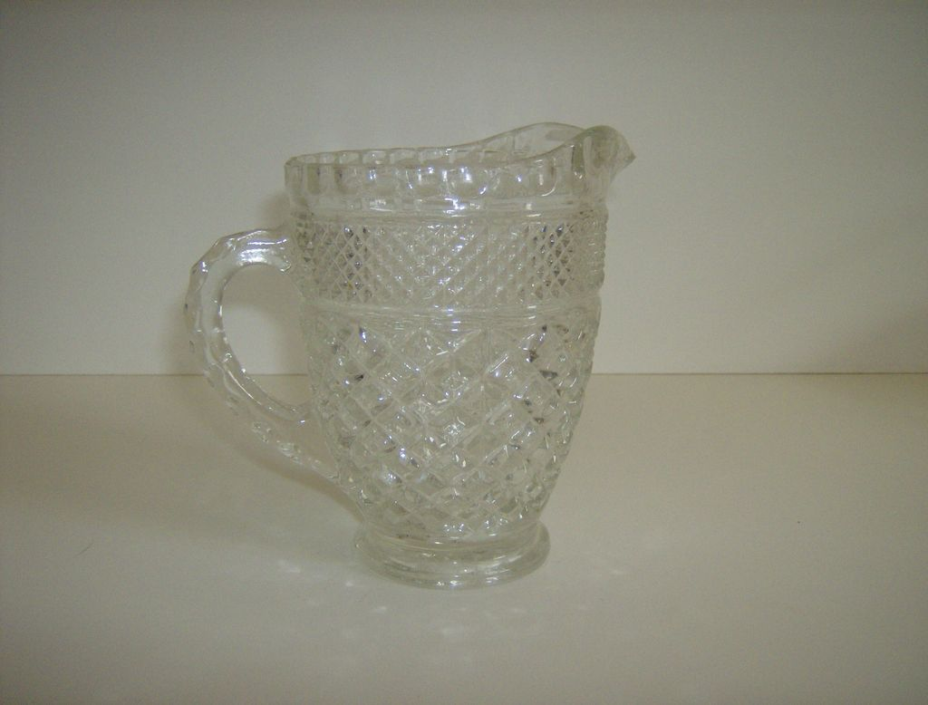 Pint Pitcher in the Wexford Pattern by Anchor Hocking