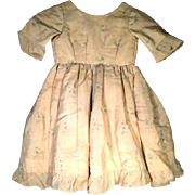 Antique Child's Young Girl's Dress Coarse Fabric Mid 1800s
