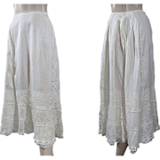 Fine Edwardian Petticoat With Lace Flounce