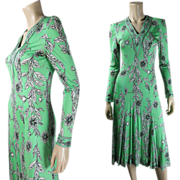 Vintage 1970's Emilio Pucci Silk & Rayon Jersey Dress