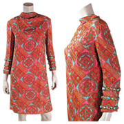 Vintage 1960's Bill Blass For Maurice Rentner Jeweled Lame' Dress