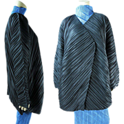 Vintage Issey Miyake Pleated Cocoon Style Coat