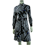 Graphic Vintage 1970's Hanae Mori Dress