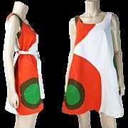 Vintage 1967 Marimekko Trapeze Dress With Design Research Retailer's Label - Size 12