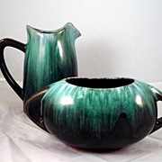 Blue Mountain Pottery Creamer and Sugar