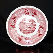 English Scenic Bread and Butter Plate Staffordshire