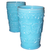 Five European Lacy Type Tumblers