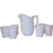 Pre 1951 Imperial Grape Pattern Water Set