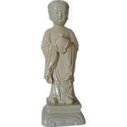 Dehua Porcelain of Lung Nu - Disciple of Guinyin - Blanc de Chine w/ Ivory White Glaze