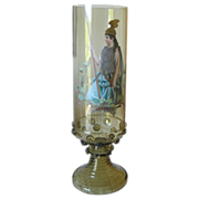 "13 l/2"" Tall Harrach Vase Painted by Josef Pfohl C 1880's"