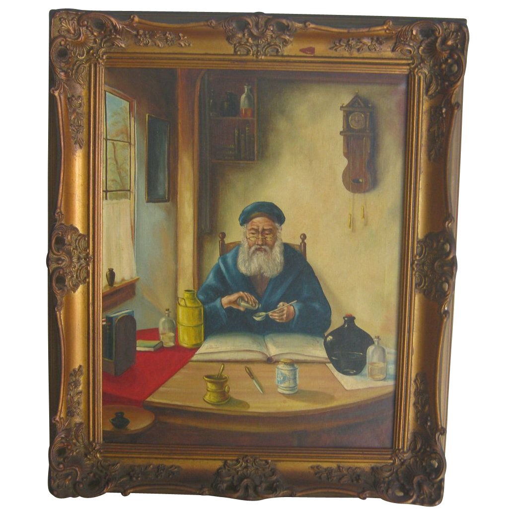 Nostradamus or Doctor oil painting - Possibly French