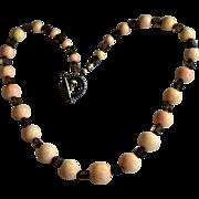 Sponge Coral Jumbo Bead Necklace Moss Quartz Necklace