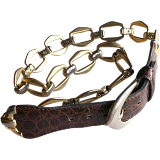 REDUCED High Fashion Dior Leather Link Chain Belt
