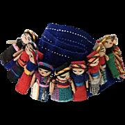 REDUCED Mayan Folk Art Handmade Guatemalan Worry Cloth Dolls