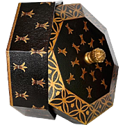 Black Gold Octagon Shaped Decorative Box