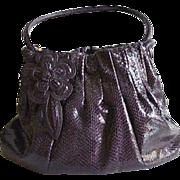 Aubergene Brighton Large Sachel Faux Snake Skin Handbag