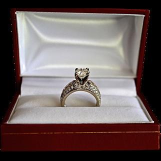 REDUCED Victorian Style Two-Tone 14K Gold European Cut 2 Carat Diamond Ring