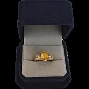 Estate offering 2.84 Carats Sapphire & Diamond 14K Gold Ring