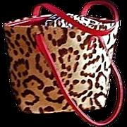 Couture Valentino Garavani Leopard Print Tote Handbag Italy
