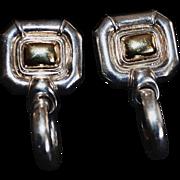 GUCCI Vintage Sterling Silver Door Knocker Earrings