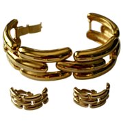 Classic Givenchy Wide Link Bracelet & Earrings