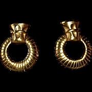 Givenchy 14K Gold Plate Door Knocker Earrings