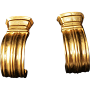 Karl Lagerfeld Classical Doric Gold Plate Earrings