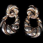 Tiffany & Co 14kt Gold & Sterling Dangle Earrings