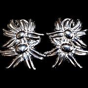 Vintage Tiffany & Co Double Marigold Sterling Earrings