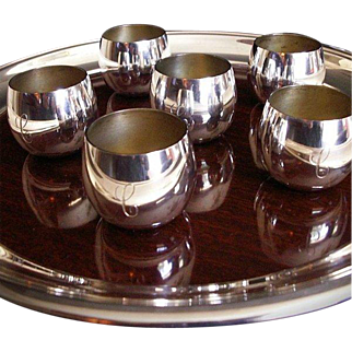 SALE Tiffany & Co Sterling Silver Cordial Toasting Cup Set
