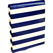 Gorgeous Art Deco Blue & Creme Celluloid Cigarette Case