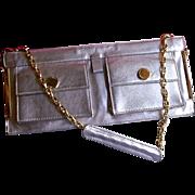 DESIGNER C. Lacroix Leather Baguette Style Handbag