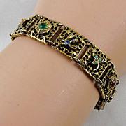 """Designer signed """"Goldette"""" bracelet multiple designs in gold tone"""