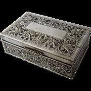 Persian Silver 84 Zolotniks Cigarette Box Cedar Lined