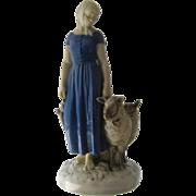 Bing & Grandahl Denmark Shepherdess Porcelain Figurine #2010