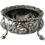 Gorham Repousse Sterling Master Salt Dish Footed 1893